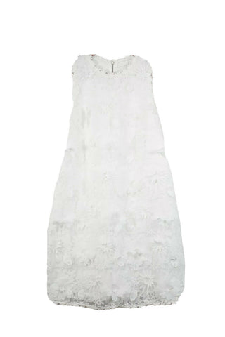 Ali & Jay Womens Large White Sparkling Rosé Lace Dress NWT