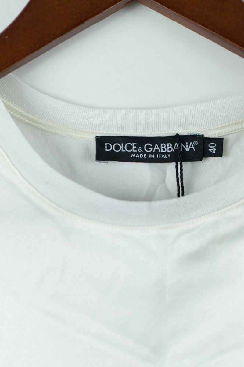 Dolce & Gabbana Womens 40 Small White Tee Shirt Top Marilyn Monroe Graphic NWT