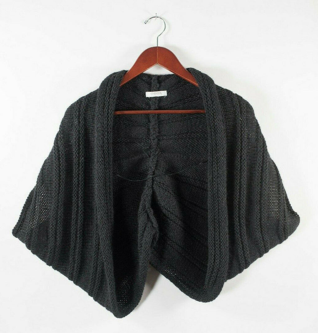 Geox Womens Size 1 Small Charcoal Grey Shrug Bolero Knit Cropped Sweater Jacket