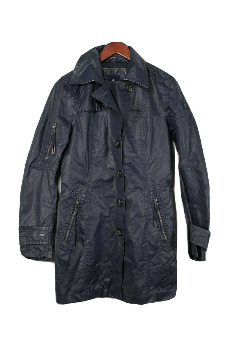 Gaastra Men's Small Navy Blue Waxed Coat