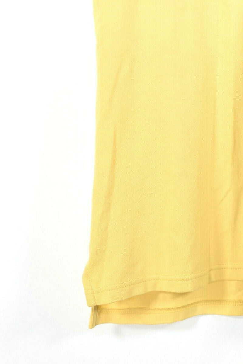 Burberry Brit Womens Small Yellow  Polo Top Signature Check Sleeve Neck T Shirt