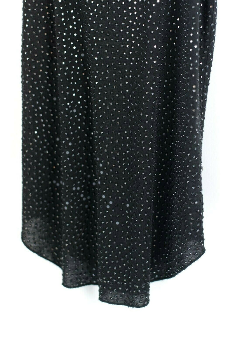 Joe's Jeans T Womens Small Black Tank Top Sparkle Cotton Sequin Rhinestone Shirt