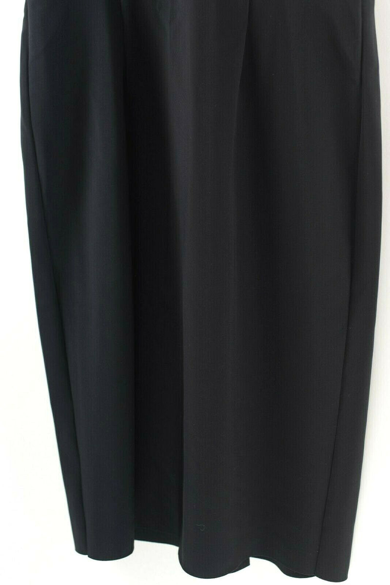 Greta Constantine Womens Size Medium Black Dress Neoprene Ruffle Cocktail LBD
