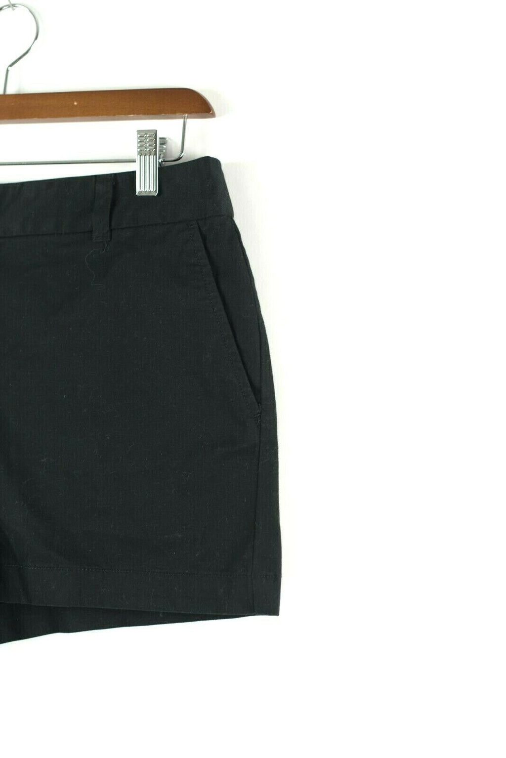Loft Ann Taylor Womens Size 4 Small Black Shorts Original Solid Mini Cotton NWT