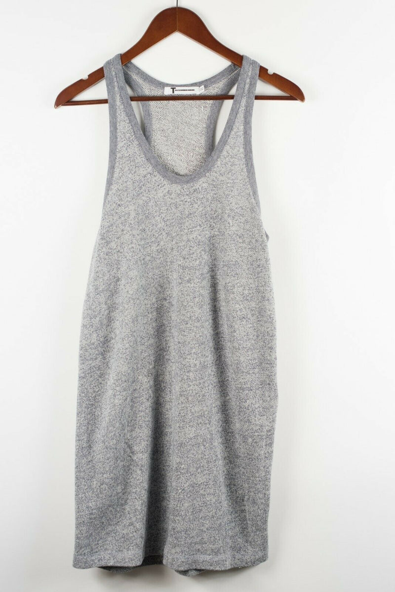 T Alexander Wang Womens Small Blue Scoop Neck Mini Racerback Tank Terry Cotton