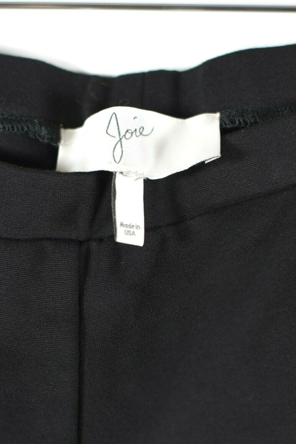 Joie Womens Medium Black Pants Elastic Waist Pull-on Knit Cropped Trousers $168