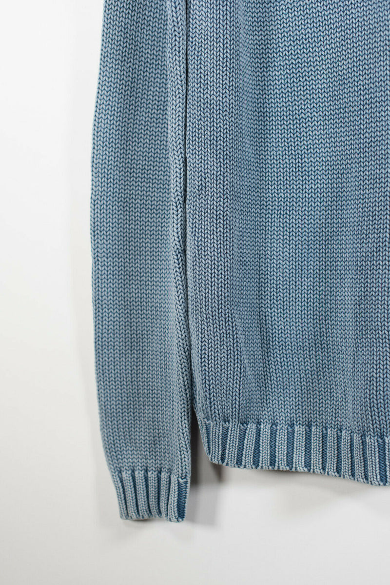 Aritzia TNA Large Blue Knit Pullover Sweater