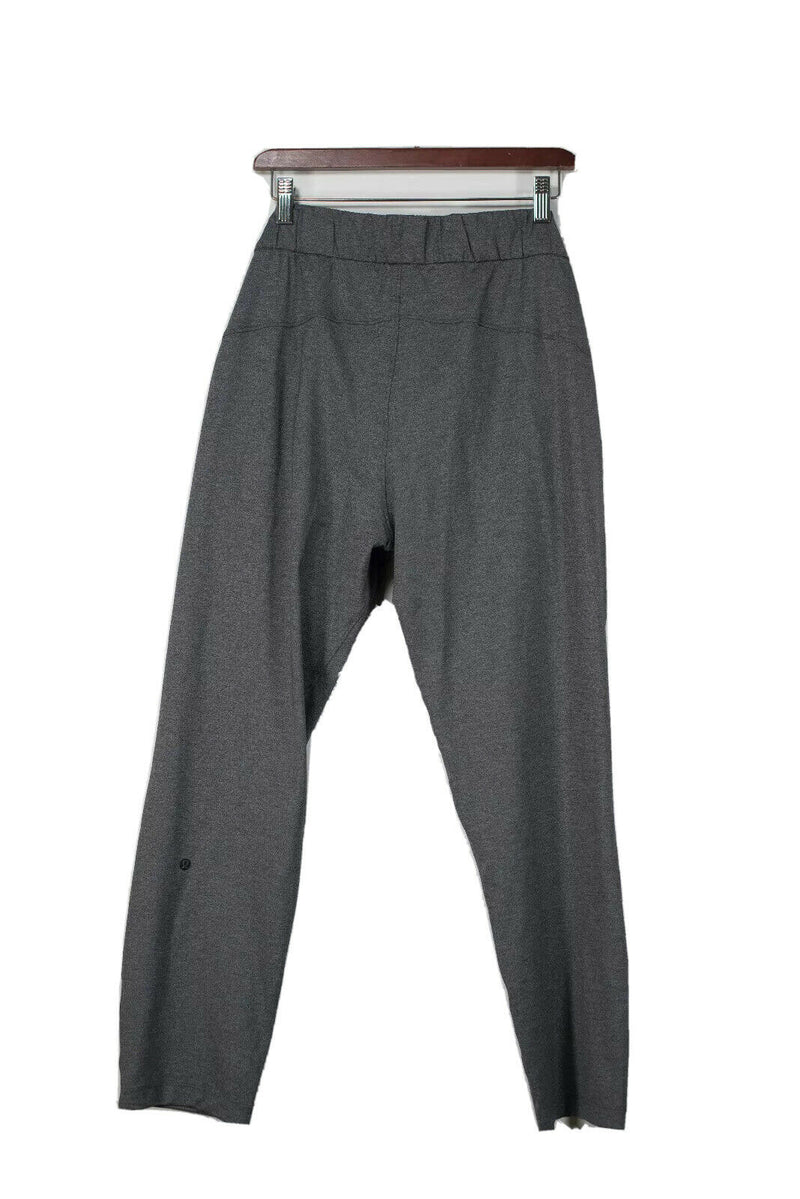 Lululemon Womens Size 8 Gray Drawstring Waist Cropped Pants