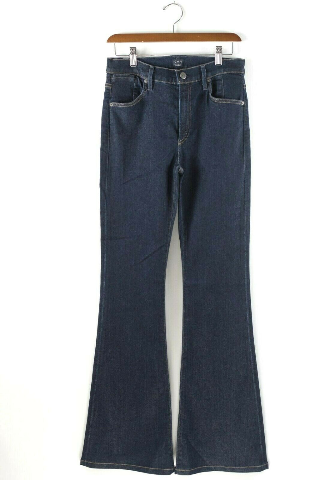 Citizens of Humanity Womens Size 28 Dark Blue Mid Rise Super Flare Wide Jeans