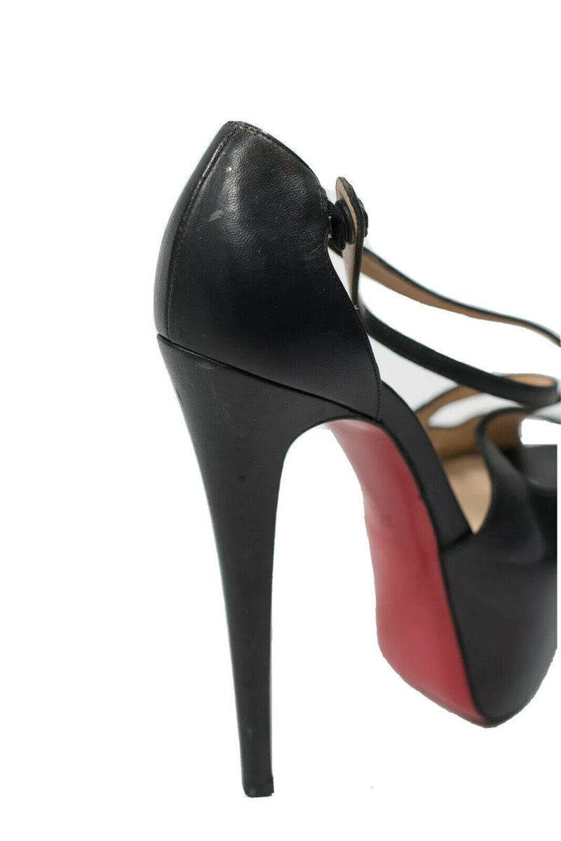 Christian Louboutin Size 37.5 Black Exagona Pumps