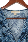 Michael Michael Kors Size Small Blue Printed Dress