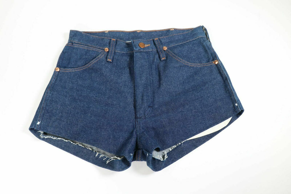 Wrangler Women's Small Vintage Selvedge High Waisted Denim Shorts