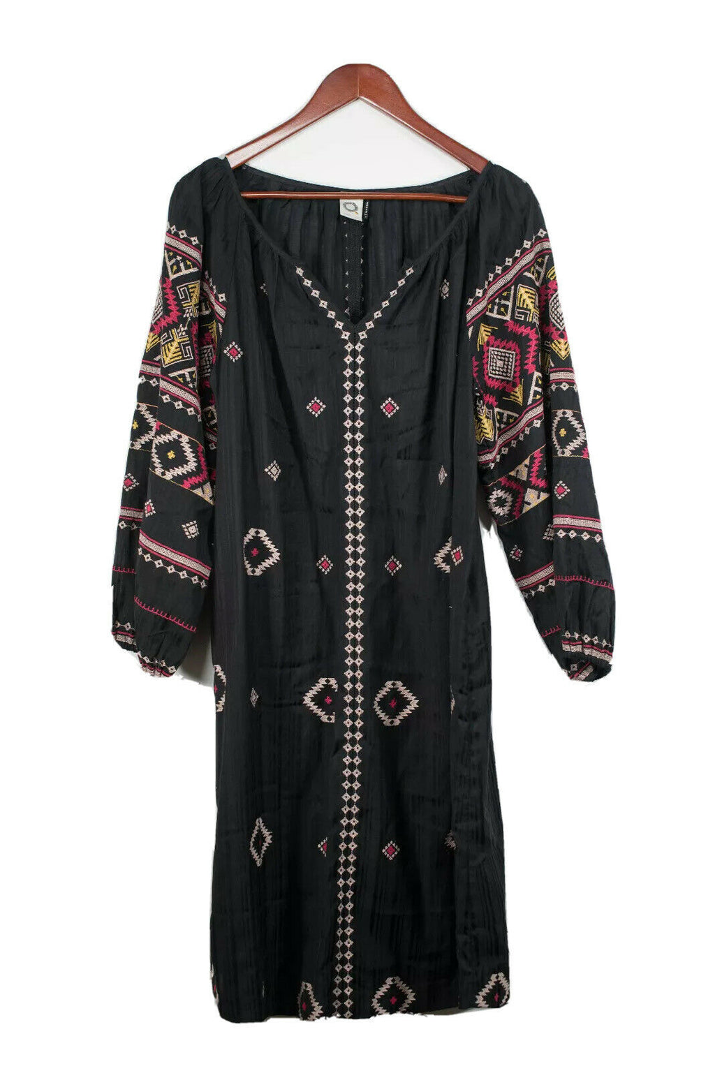 Anthropologie Akemi + Kin Large Black Embroidered Dress