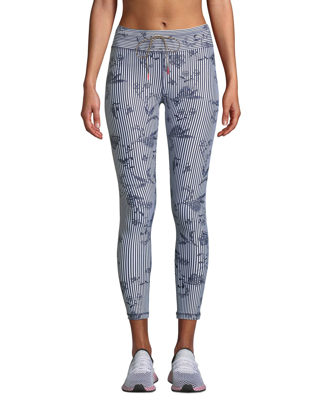 The Upside Womens 8 Medium Blue Pants Florence Run High Waist Midi Leggings $150