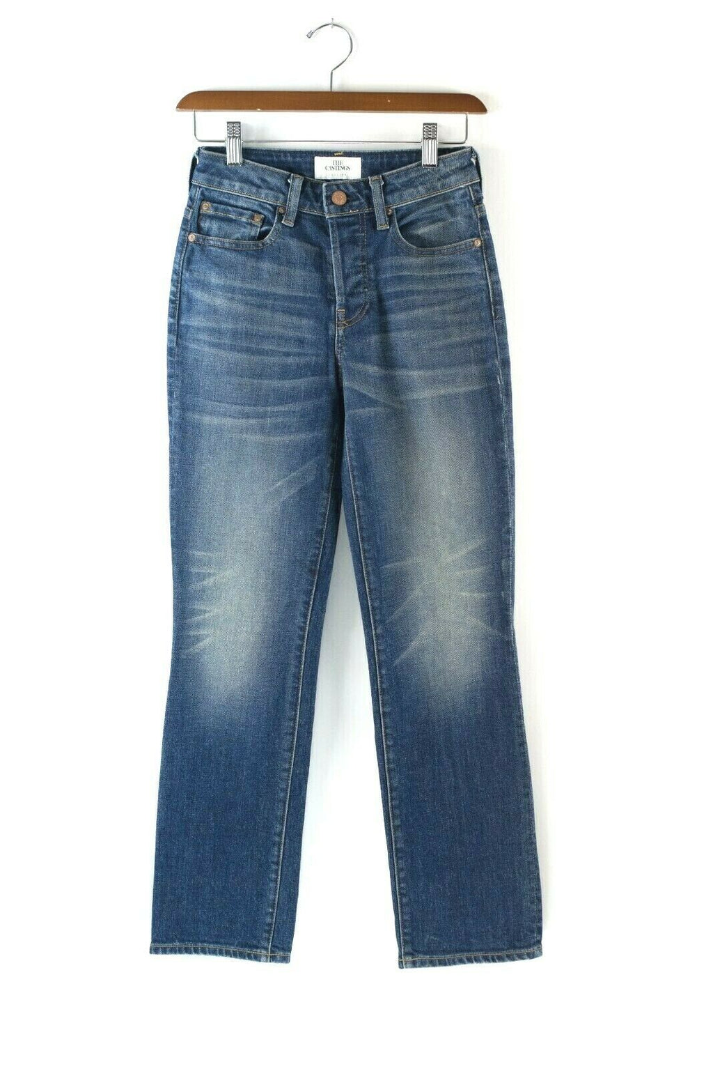 Aritzia The Castings Womens Size 24 XS Blue Jeans High Rise Cropped Denim $225
