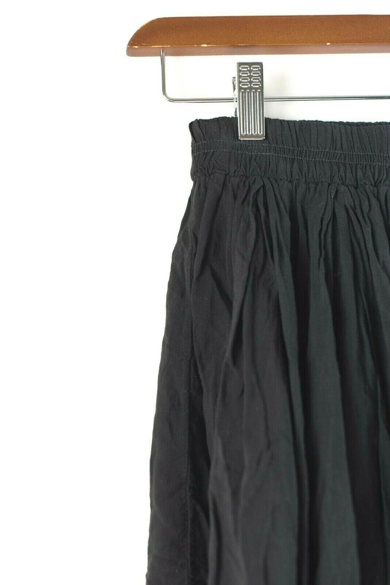 Brandy Melville Womens Size Small Black Skirt Mini Pleated Skater Crinkle Ruffle