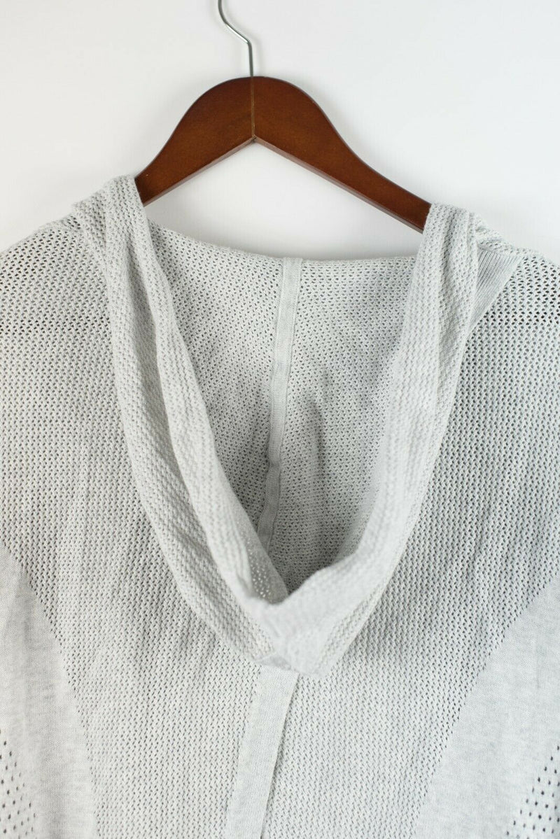 Lululemon Womens Size Small Grey Cardigan Sweater Split Sides Wrap Knit Cardigan