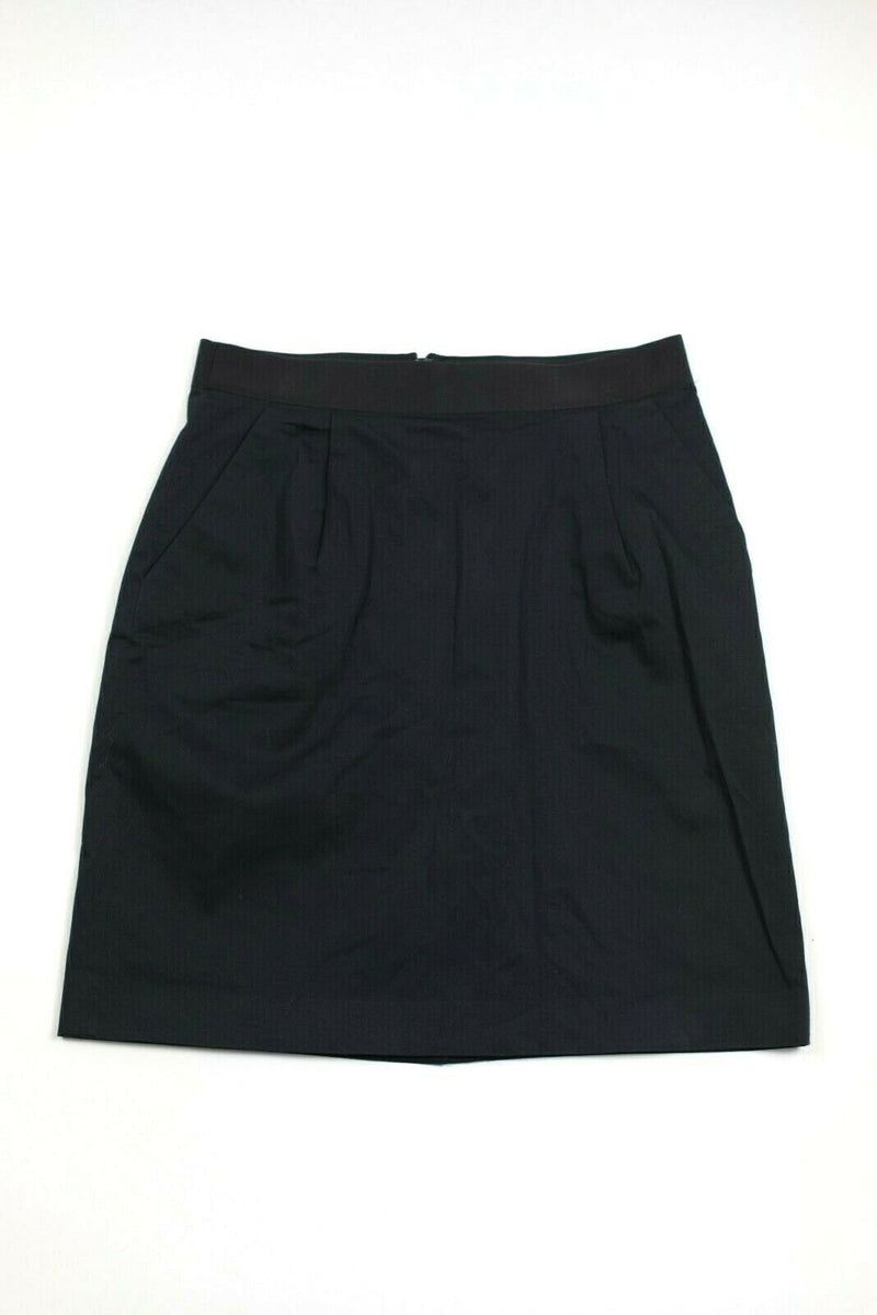 Kate Spade Size 6 Black Skirt The Rules Mini Back Bow Pockets