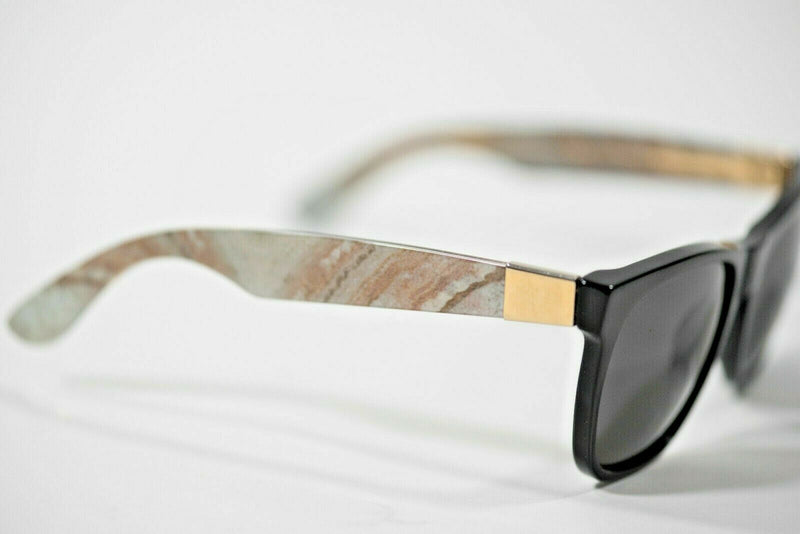 Retrosuperfuture Black Sunglasses Marble Classic Minerale