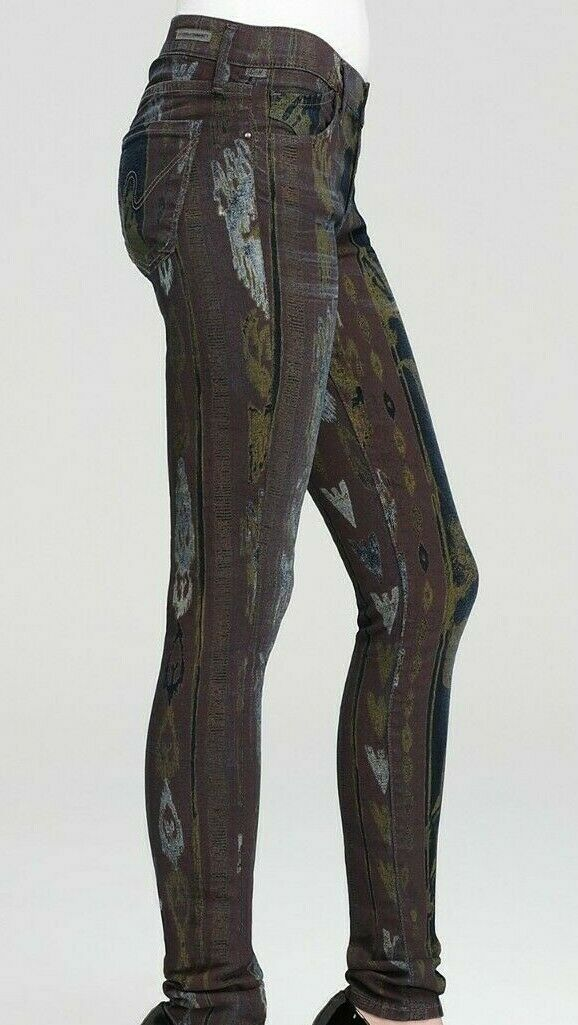 Citizens of Humanity COH Womens Size 29 Purple Green Skinny Jeans Avedon Beowulf