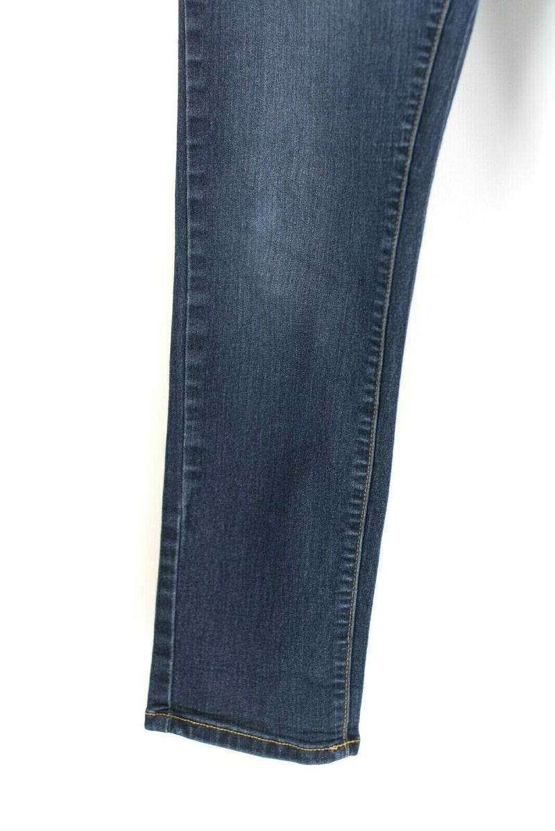 Free People Anthropologie Womens 29 Medium Dark Blue Jeans Denim Slim Skinny