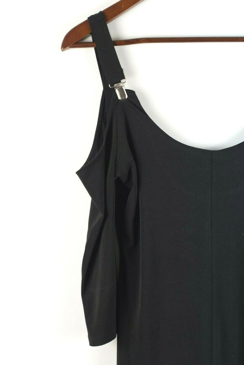 Silence and Noice Urban Outfitters Womens Small Black Top Suspender Strap Shirt