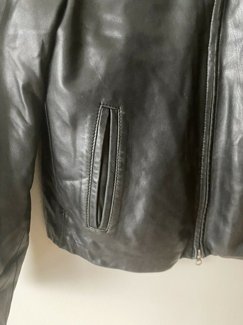 Danier Canada Men's Medium Black Jacket Leather Coat Removable Insulated Lining