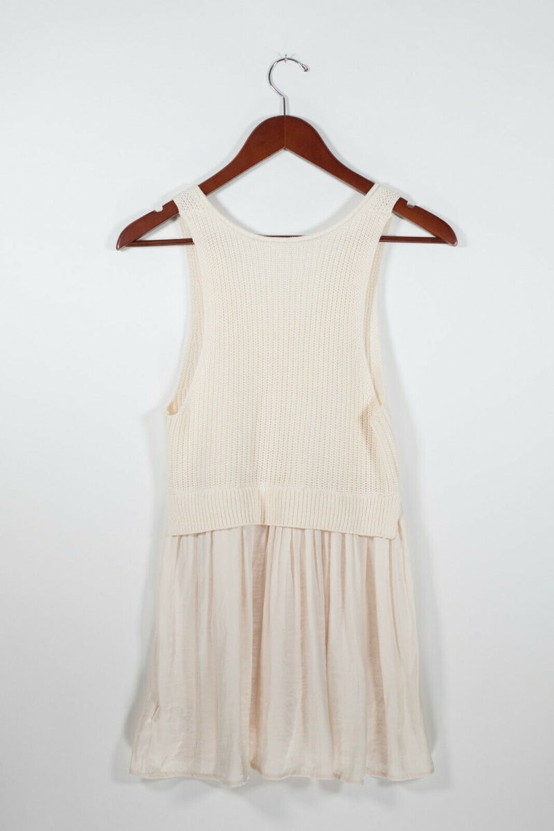Kimchi Blue Urban Outfitters Womens Size XS Ivory Tank Top Sleeveless Knit V Tee
