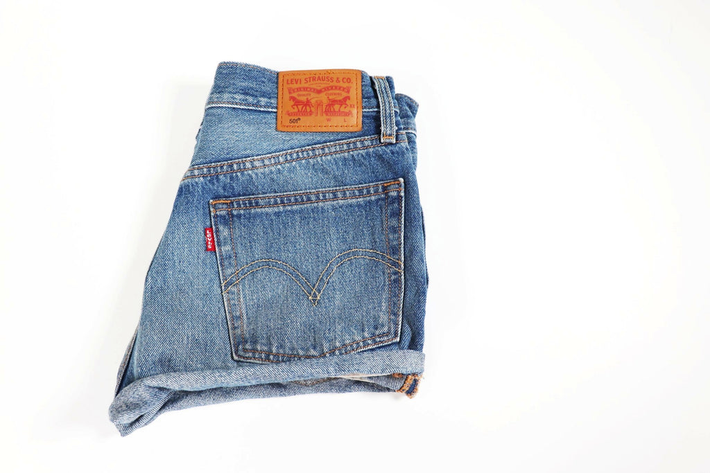 Levi's Blue Denim Shorts