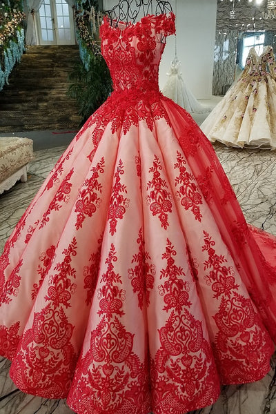 7062f821bd Luxury real Red Quinceanera Dress Ball Gowns 2018 Vestidos De 15 ...