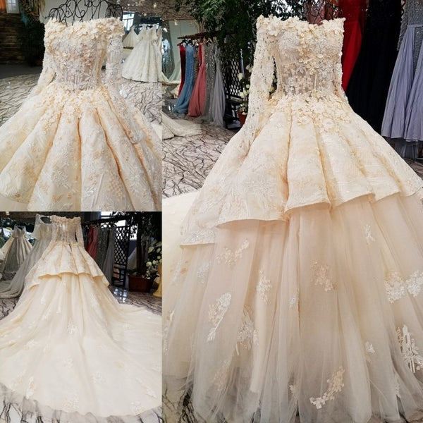 b2f3496604b60 100% real original pictures muslim long sleeves wedding dress back can be  changed key hole