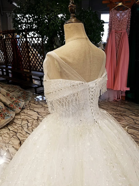 2018 new arrival off white organza bridal gowns lace flowers hand ...