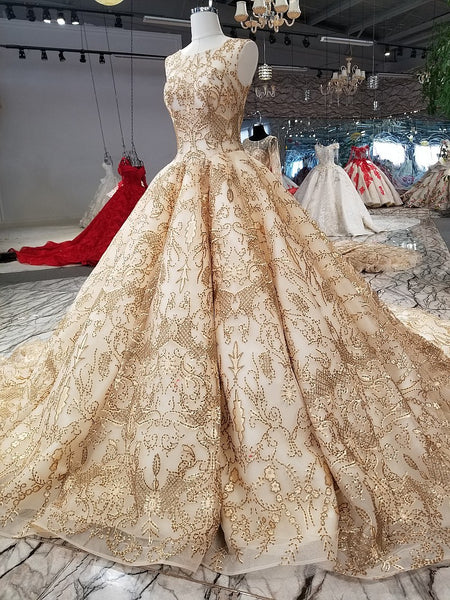 cd1a8585900 ... Rose Gold Evening Dress Bling Bling Sequins Bridal Ball Gown 2018 Gold Bridal  Formal Gowns Arabic ...