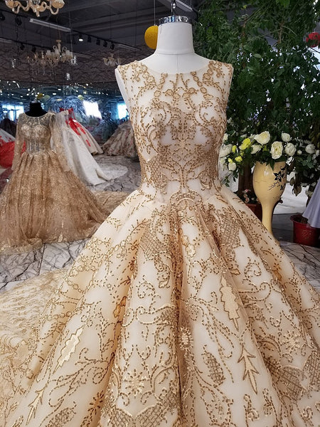 ... Rose Gold Evening Dress Bling Bling Sequins Bridal Ball Gown 2018 Gold  Bridal Formal Gowns Arabic fd6ad7eb9c80