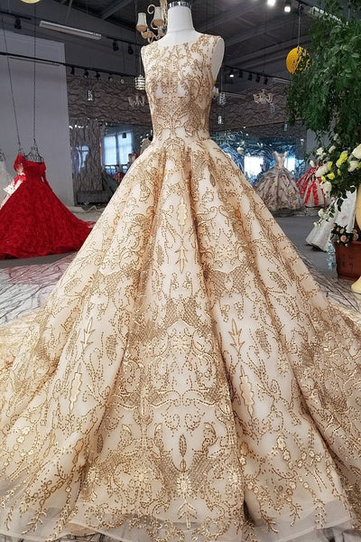 9ee584cc947 ... Rose Gold Evening Dress Bling Bling Sequins Bridal Ball Gown 2018 Gold  Bridal Formal Gowns Arabic ...