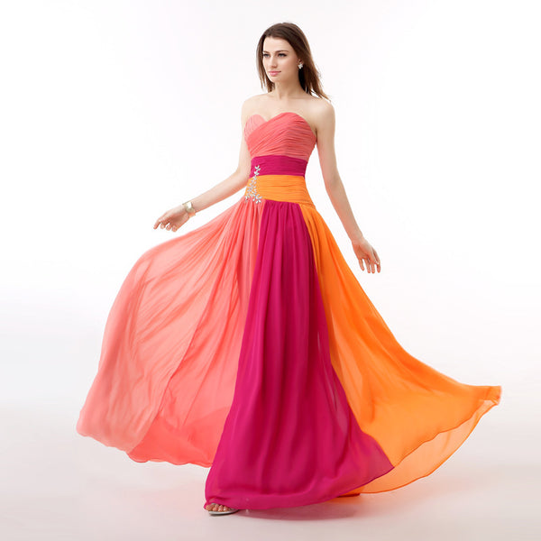 ec00181ae78 ... Real Picture Multi Colors Rainbow Prom Dress A Line Crystals Backless  Long Formal Party Gown Plus ...