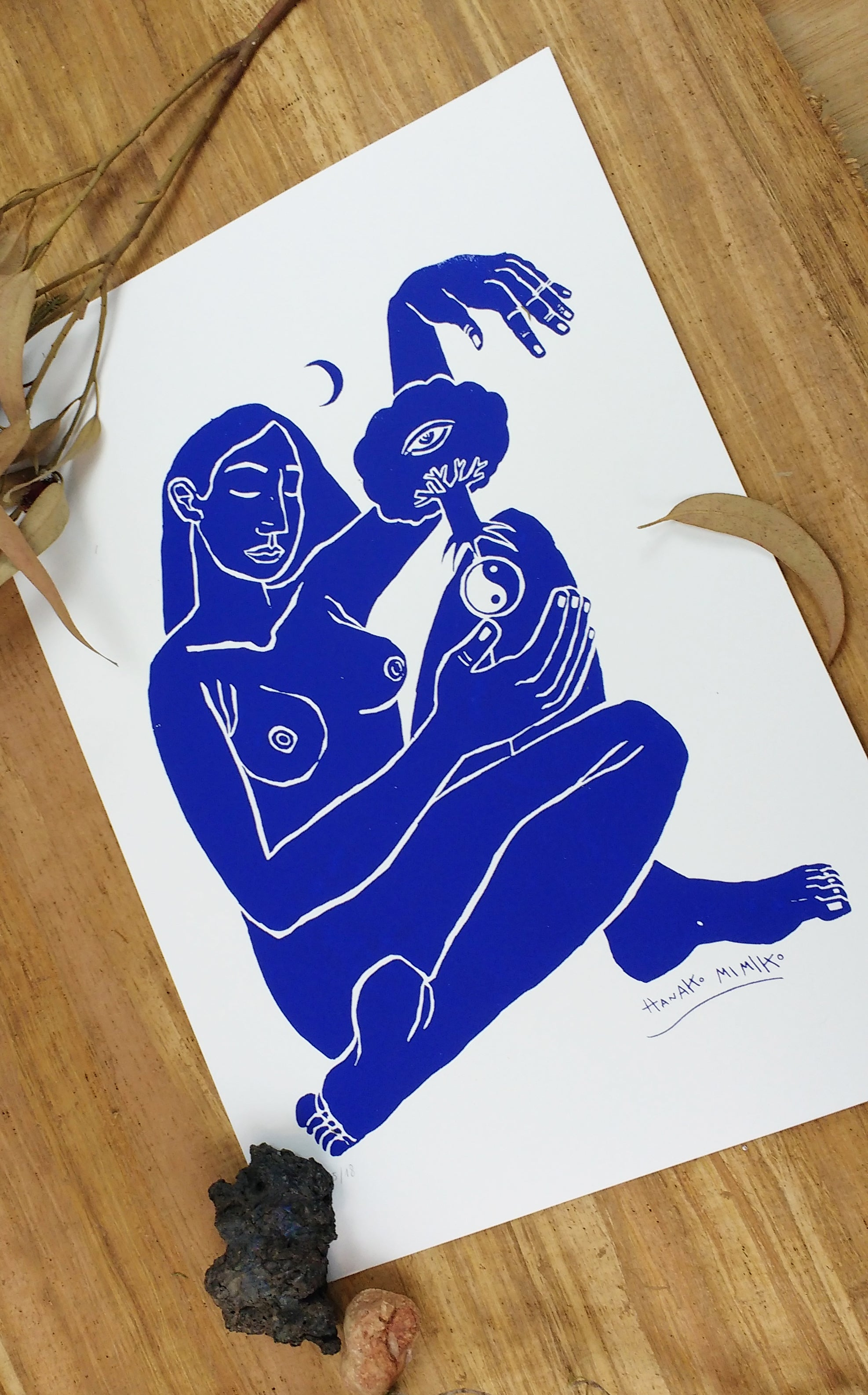 Silk Screen print.