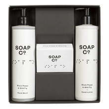 Gift Box Trio with Bar Soap - Black Poppy & Wild Fig