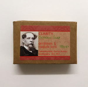 Dickens Bicentenary Organic Soap - Geranium & English Fern