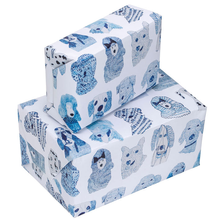 Blue Dogs Design Wrapping Paper