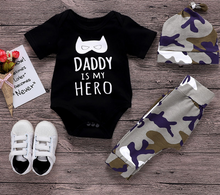 Camo Black Suit Baby Clothes 3-pieces