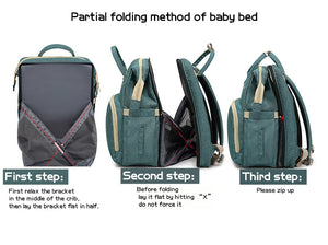 Diaper Backpack Multifunctional Baby Bed Bags