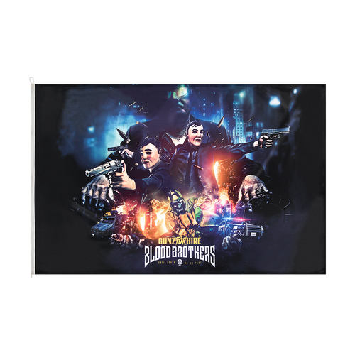 Gunz for Hire - Blood Brothers Premium Theme Flag