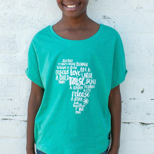 Big Girls Africa Batwing Tee - LIV Creative