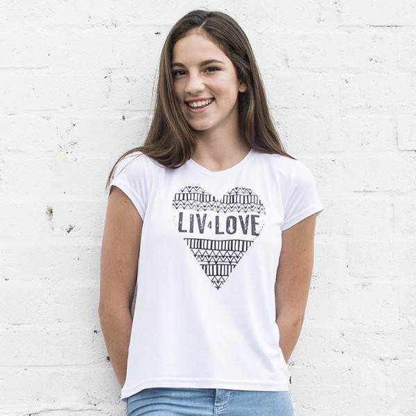 Big Girls LIV 4 Love Crew Neck Tee - LIV Creative