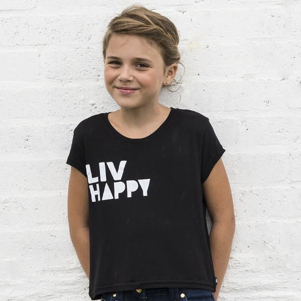 Big Girls LIV Happy Crew Neck Tee - LIV Creative
