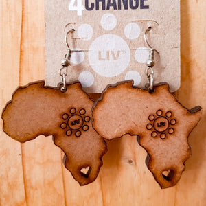 Africa Wooden Earrings - LIV Creative