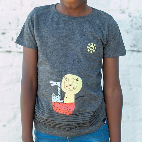S/S Crew Neck Tee, Noah's Ark, 100% Cotton Slub, Pre Boys