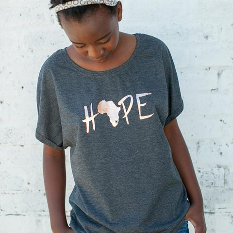 Womens Hope Batwing Tee - LIV Creative