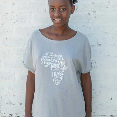 Womens Africa Batwing Tee
